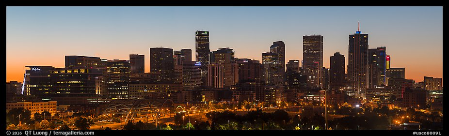 Skyline at dawn. Denver, Colorado, USA (color)