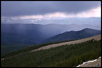 Storm, Mt Evans. Colorado, USA
