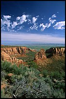 Mesas, Monument Canyon view. Colorado National Monument, Colorado, USA ( color)