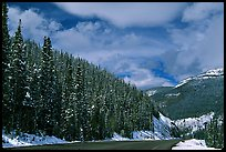 Highway near the Continental Divide at Monarch Pass. Colorado, USA ( color)