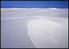 White sand dunes. White Sands National Park, New Mexico, USA.