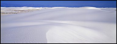 White sand dunes landscape. White Sands National Park (Panoramic color)