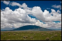 Volcanic hill and clouds. New Mexico, USA ( color)