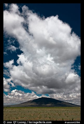 Clouds above Ute Mountain. Rio Grande Del Norte National Monument, New Mexico, USA (color)
