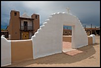 San Geronimo (St Jerome) church. Taos, New Mexico, USA