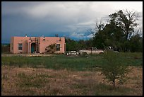 Adobe house on the reservation. Taos, New Mexico, USA (color)