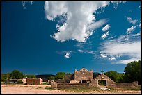 Picuris Pueblo and church. New Mexico, USA (color)