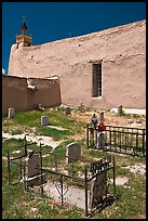 Cemetery, San Jose de Gracia church. New Mexico, USA