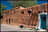 Oldest house in America. Santa Fe, New Mexico, USA (color)