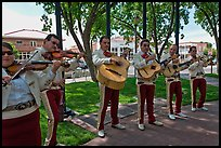 Mariachi band on old town plazza. Albuquerque, New Mexico, USA ( color)