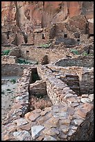 Ancient Pueblo Bonito ruins. Chaco Culture National Historic Park, New Mexico, USA (color)