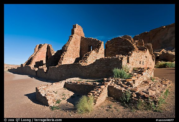 Pueblo Bonito, early morning. Chaco Culture National Historic Park, New Mexico, USA