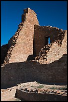 Brick walls, Pueblo Bonito. Chaco Culture National Historic Park, New Mexico, USA ( color)