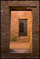 Chacoan doors. Chaco Culture National Historic Park, New Mexico, USA ( color)