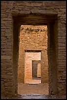 Chaco doorways. Chaco Culture National Historic Park, New Mexico, USA ( color)