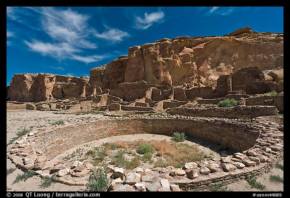 Ceremonial Kiva in Pueblo Bonito. Chaco Culture National Historic Park, New Mexico, USA