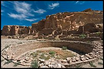 Ceremonial Kiva in Pueblo Bonito. Chaco Culture National Historic Park, New Mexico, USA ( color)