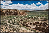 Chetro Ketl and Chaco Canyon. Chaco Culture National Historic Park, New Mexico, USA ( color)