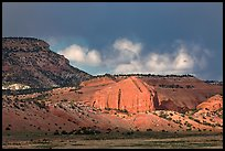 Red cliffs and dark sky. New Mexico, USA ( color)