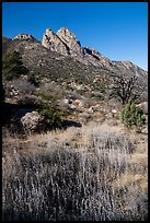 Rabbit Ears above Aguirre Springs. Organ Mountains Desert Peaks National Monument, New Mexico, USA ( color)