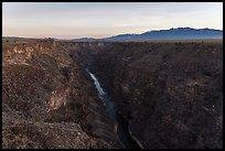 Rio Grande Gorge from Rio Grande Gorge Bridge. Rio Grande Del Norte National Monument, New Mexico, USA ( )