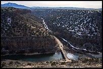 John Dunn Bridge over the Rio Grande. Rio Grande Del Norte National Monument, New Mexico, USA ( )