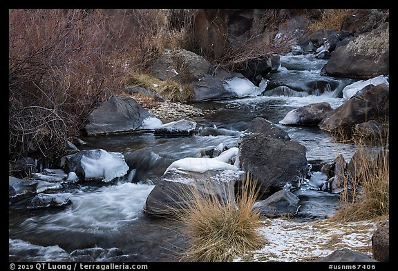 Stream in winter. Rio Grande Del Norte National Monument, New Mexico, USA (color)