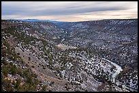 Rio Grande Gorge from Chawalauna Overlook in winter. Rio Grande Del Norte National Monument, New Mexico, USA ( )