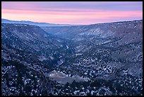 Rio Grande Gorge from Chawalauna Overlook, winter sunrise. Rio Grande Del Norte National Monument, New Mexico, USA ( )