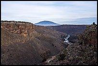 Rio Grande Gorge and Ute Mountain. Rio Grande Del Norte National Monument, New Mexico, USA ( )
