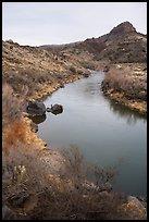 Rio Grande River in Lower Rio Grande River Gorge. Rio Grande Del Norte National Monument, New Mexico, USA ( )