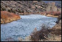 Rio Grande River in winter. Rio Grande Del Norte National Monument, New Mexico, USA ( )