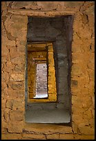 Chacoan doors, West Ruin. Aztek Ruins National Monument, New Mexico, USA ( color)