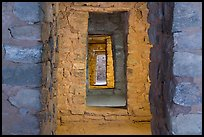 Aligned doors, West Ruin. Aztek Ruins National Monument, New Mexico, USA ( color)