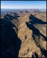 Aerial view of valley in Dona Ana Mountains. Organ Mountains Desert Peaks National Monument, New Mexico, USA ( color)