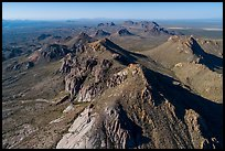 Aerial view of Dona Ana Peak. Organ Mountains Desert Peaks National Monument, New Mexico, USA ( color)