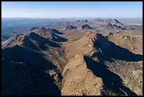 Aerial view of Dona Ana Mountains. Organ Mountains Desert Peaks National Monument, New Mexico, USA ( color)