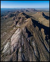 Aerial view of Dona Ana peaks of monzonite porphyry. Organ Mountains Desert Peaks National Monument, New Mexico, USA ( color)