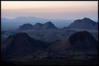 Cluster of Dona Ana mountains peaks at sunset. Organ Mountains Desert Peaks National Monument, New Mexico, USA ( color)