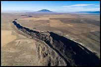 Aerial view of Rio Grande Gorge and Ute Mountain. Rio Grande Del Norte National Monument, New Mexico, USA ( color)