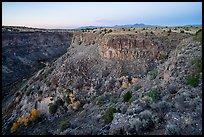 Gorge of Rio Pueblo de Taos from Taos Valley Overlook. Rio Grande Del Norte National Monument, New Mexico, USA ( )