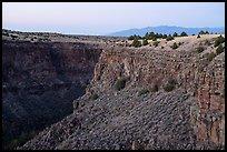 Rio Pueblo de Taos gorge from Taos Valley Overlook. Rio Grande Del Norte National Monument, New Mexico, USA ( )