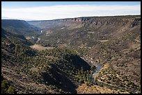 Upper Rio Grande Gorge from Chawalauna Overlook. Rio Grande Del Norte National Monument, New Mexico, USA ( )