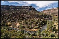 Rio Grande River and cliffs, Big Arsenic. Rio Grande Del Norte National Monument, New Mexico, USA ( )