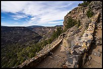 Switchbacks of Big Arsenic Trail. Rio Grande Del Norte National Monument, New Mexico, USA ( color)