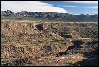 Gorge and Picuris Peak. Rio Grande Del Norte National Monument, New Mexico, USA ( )