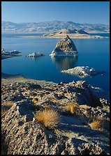 Shoreline and Pyramid. Pyramid Lake, Nevada, USA ( color)