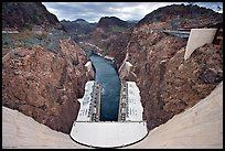 Dam, power plant and Black Canyon. Hoover Dam, Nevada and Arizona ( color)