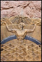 Memorial in Art Deco style to accident victims during the construction. Hoover Dam, Nevada and Arizona ( color)