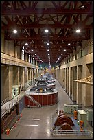 Nevada generator room. Hoover Dam, Nevada and Arizona ( color)